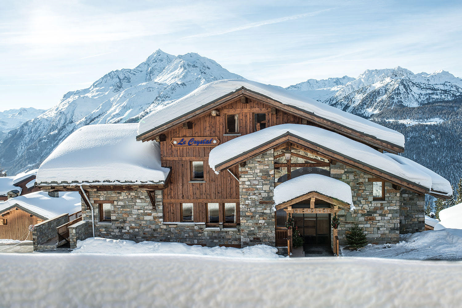 Chalet le Crystal skis aux pied